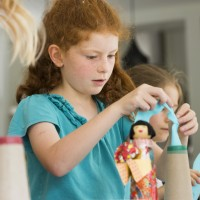 Japanese doll making birthday party