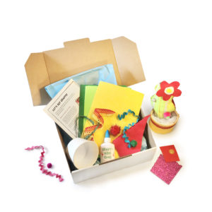 crafty kids club single project craft kit delivered to your door in australia rainbow cactus