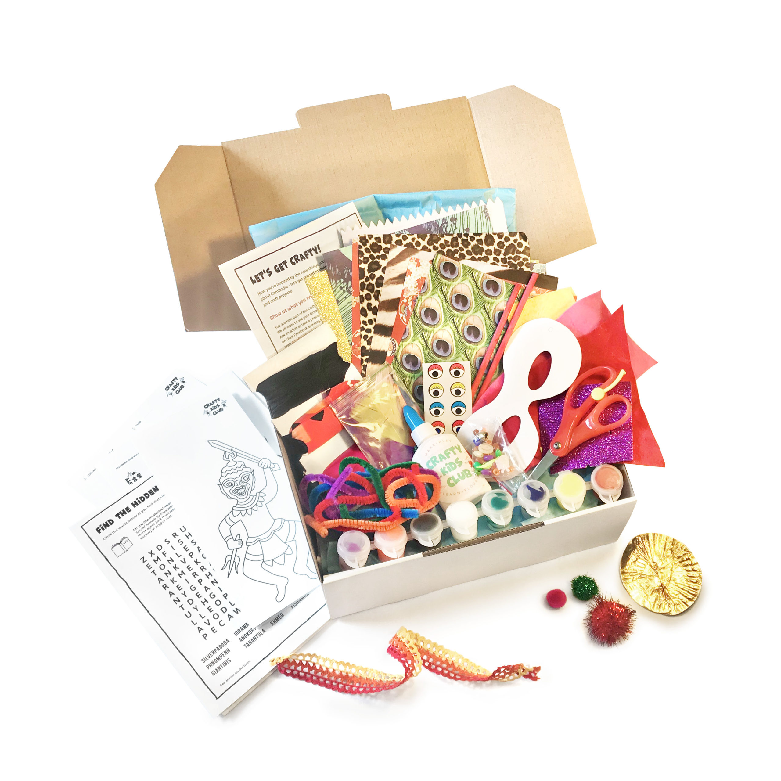 crafty kids club kids craft kits delivered to your door in australia $100 creative kids voucher taster multi project kit