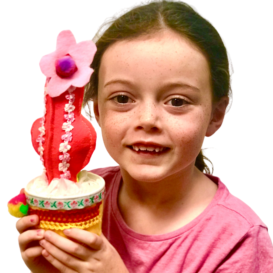 Rainbow cactus DIY kit girl maker