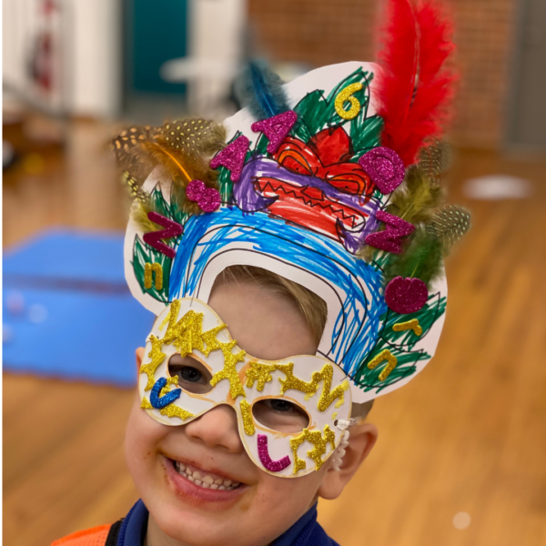 cambodia lets make our way around the world craft kit warrior mask delivered to your home by crafty kids club