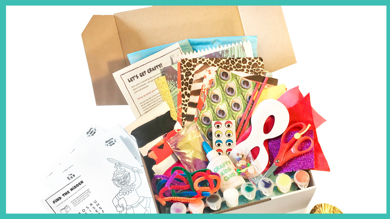 crafty kids club kids lets make our way around the world craft kits delivered to your door in australia platinum all inclusive subscription kit