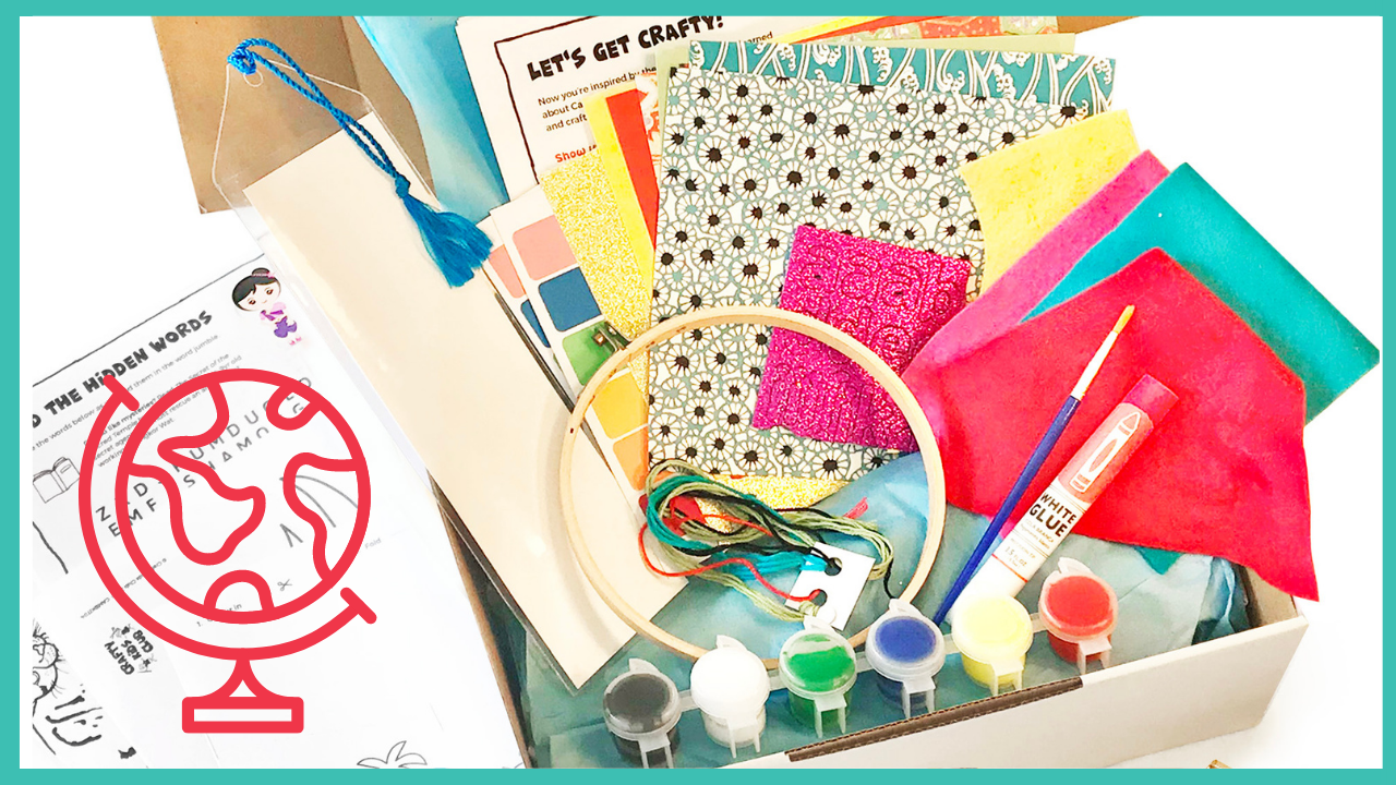 crafty kids club kids craft kits delivered to your door in australia lets make our way around the world country multi project kit