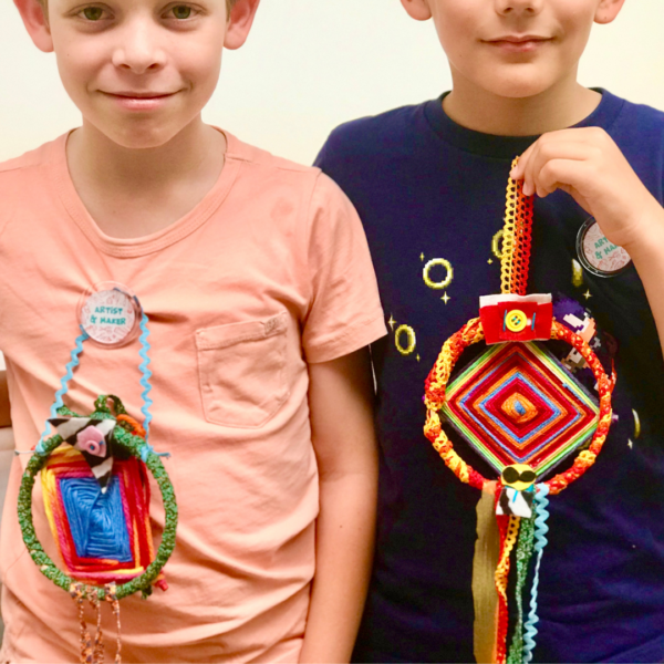 Mexican Dream Weaver Craft Kit delivered to your home by Crafty Kids Club